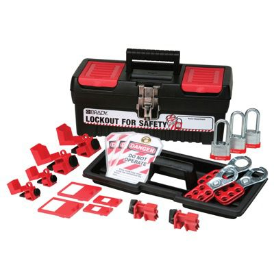 Brady Personal Breaker Lockout Kit w/ 3 Keyed Alike Steel Padlocks - Part Number - 105965 - 1/Kit