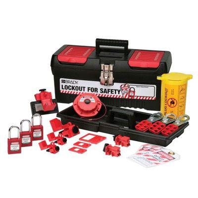 Brady Personal Electrical Lockout Kit w/Keyed-alike Safety Padlocks - Part Number - 105961 - 1/Kit