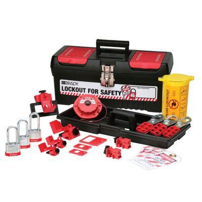 Brady Personal Electrical Lockout Kit w/Keyed-alike Steel Padlocks - Part Number - 105962 - 1/Kit