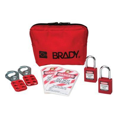 Brady Personal Padlock Pouch With Brady Safety Padlocks - Part Number - 99290 - 1/Kit