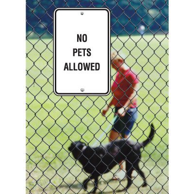 Pet Signs - No Pets Allowed