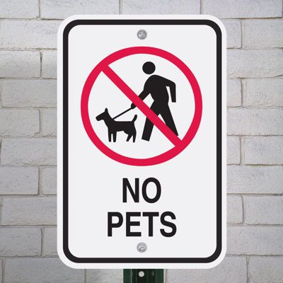 Pet Signs - No Pets