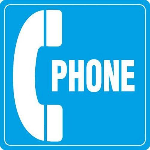 Bilingual Phone Symbol Signs
