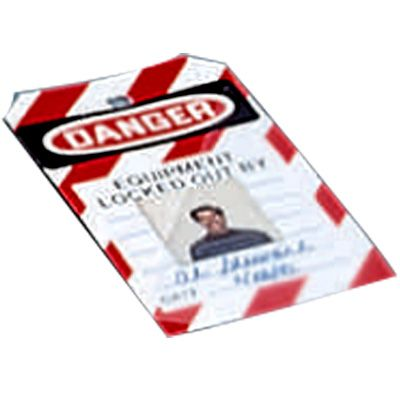 Photo Lockout Tags - Danger