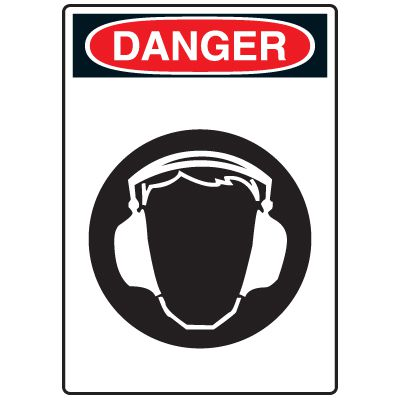 Pictogram Signs - Wear Ear Protection