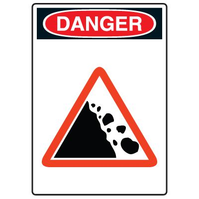 Pictogram Signs - Falling Rocks