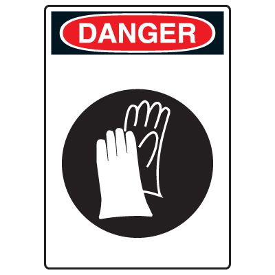 Pictogram Signs - Wear Hand Protection