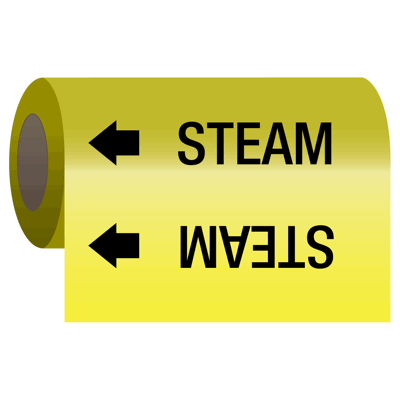 Self-Adhesive Pipe Markers-On-A-Roll - Steam