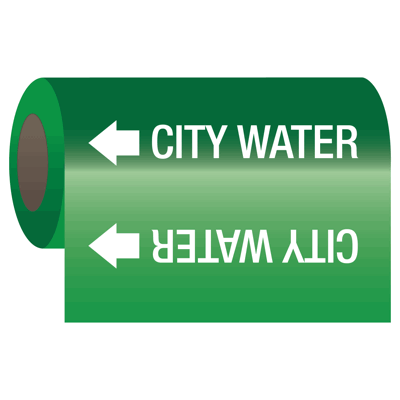 Self-Adhesive Pipe Markers-On-A-Roll - City Water