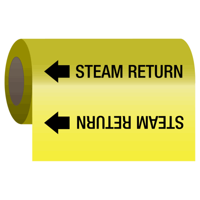 Self-Adhesive Pipe Markers-On-A-Roll - Steam Return