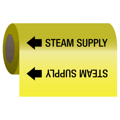 Self-Adhesive Pipe Markers-On-A-Roll - Steam Supply