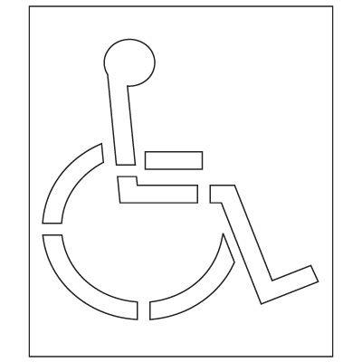 Pavement Tool Plastic Graphic Stencils - Handicap Symbol (California DOT) S-3048 D