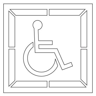 Pavement Tool Plastic Graphic Stencils - Handicap Symbol (Set of 2) S-3030 D