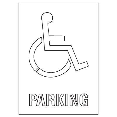 Plastic Graphic Stencils - Parking