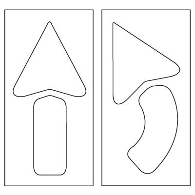 Pavement Tool Plastic Graphic Stencils - Set of 2 Arrows S-4042 D