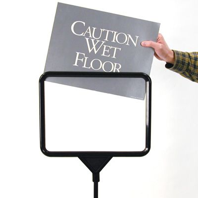 Plastic Pedestal Sign