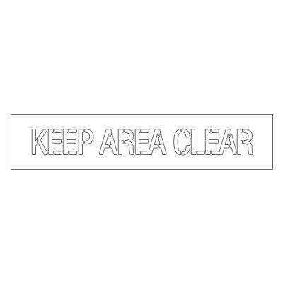 Plastic Stencils - Keep Area Clear