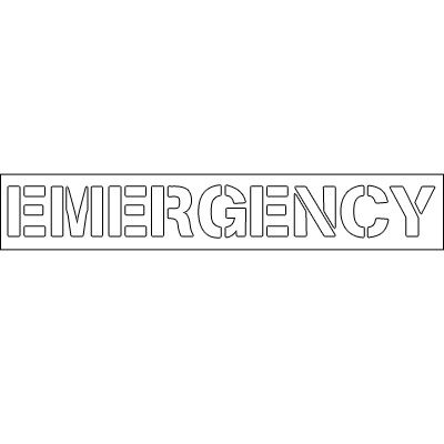Plastic Word Stencils - Emergency