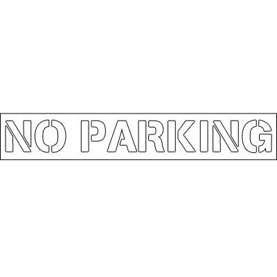 Plastic Word Stencils - No Parking