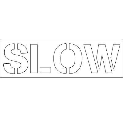 Plastic Word Stencils - Slow