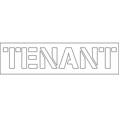 Plastic Word Stencils - Tenant