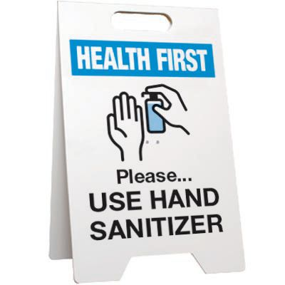 Please Use Hand Sanitizer Floor Stand Sign