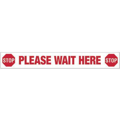 Please Wait Here - Floor Marking Strips