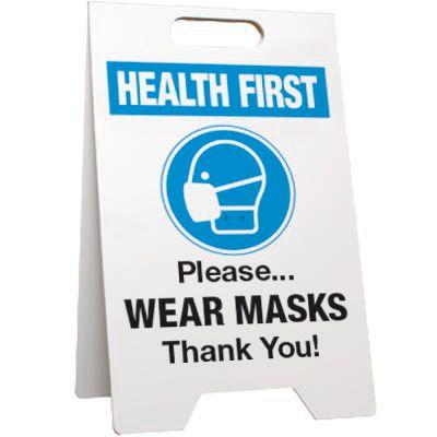 Please Wear Masks Floor Stand Sign