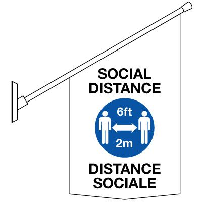 Social Distance Banners - English/French