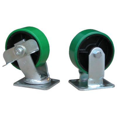 Poly-On-Steel Casters