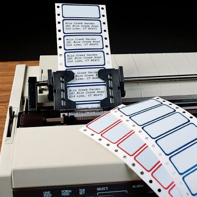 Polyester Pin-Feed Printer Labels
