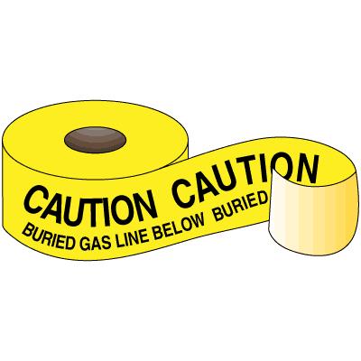 Underground Warning Tape - Caution Buried Gas Line Below