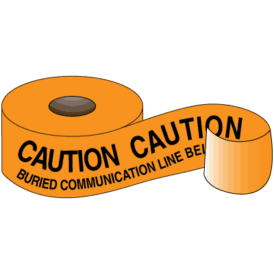 Underground Warning Tape - Caution Buried Communication Line Below