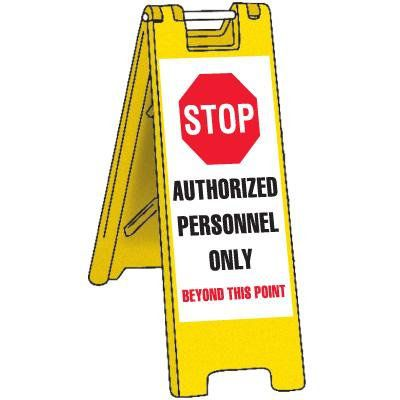 Portable Barricade-Authorized Personnel Only