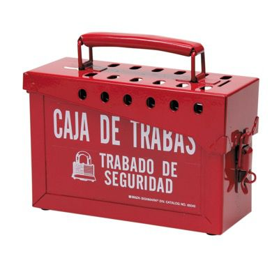 Brady Portable Metal Lock Box - Spanish - Part Number - 65040 - 1/Each