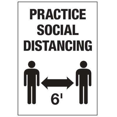 Practice Social Distancing 6FT Decal