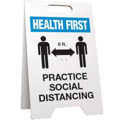 Practice Social Distancing Floor Stand Sign
