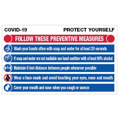 Protect Yourself COVID-19 Preventive Measures Banner