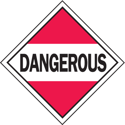 Dangerous Hazardous Material Placards