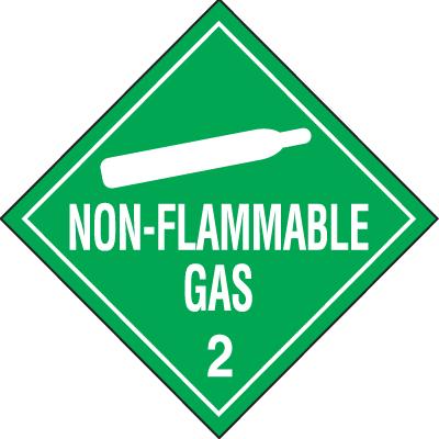 Non-Flammable Gas Hazardous Material Placards