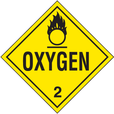 Oxygen Hazardous Material Placards