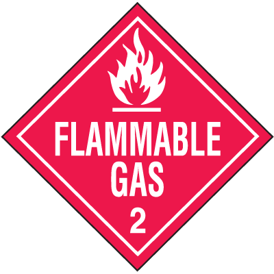 Flammable Gas Hazardous Material Placards
