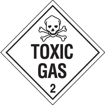Toxic Gas Hazardous Material Placards