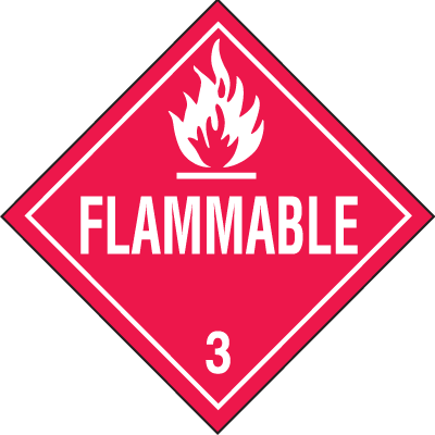 Flammable Hazardous Material Placards