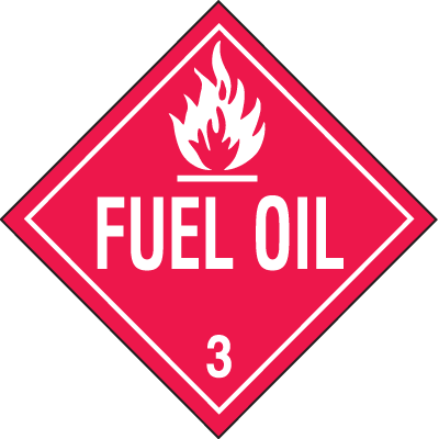 Fuel Oil Hazardous Material Placards