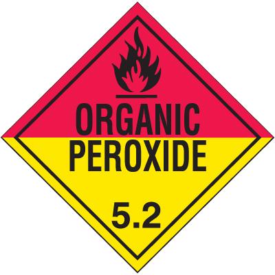 Organic Peroxide Hazardous Material Placards