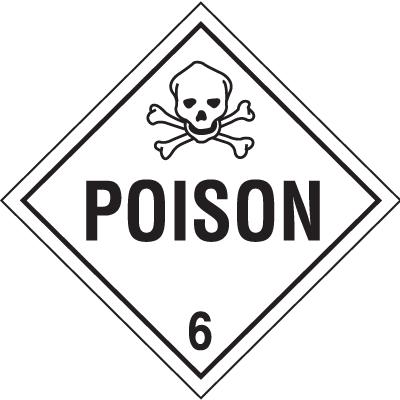 Poison Hazardous Material Placards
