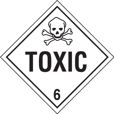 Toxic Hazardous Material Placards