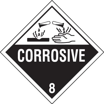 Corrosive Hazardous Material Placards