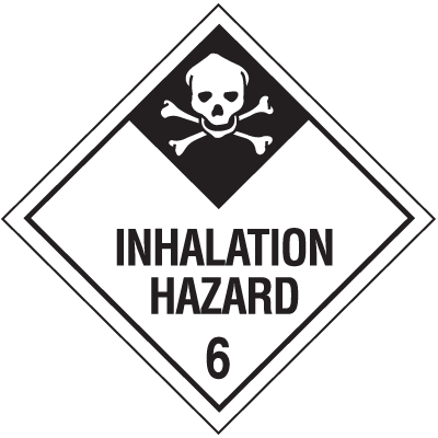 Inhalation Hazard Class 6 Material Shipping Labels